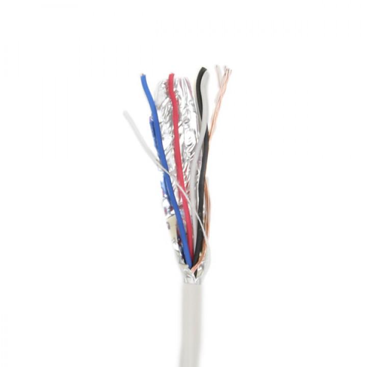 Экранированный Сигнальный кабель ATIS 4*0.22S (биметалл) бухта 100м
