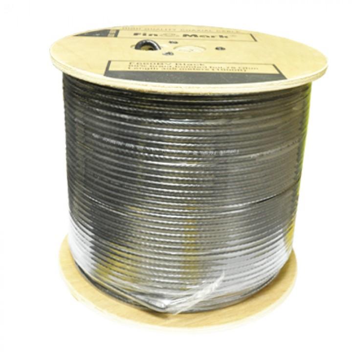 Коаксиальный кабель уличный FinMark F 690 cu BV black бухта 305м