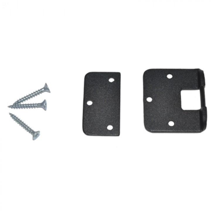 Монтажный комплект lite для замков Dori на пластиковую дверь (черный)