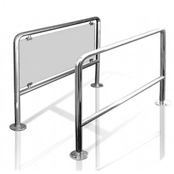 Ограждение подъемно-поворотное со стеклом, длина от 0,5м до 1м
