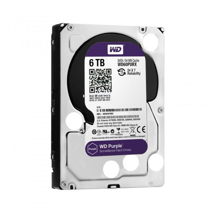 Жесткий диск 6TB Western Digital WD60PURX для видеонаблюдения