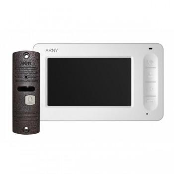 Комплект видеодомофона Arny AVD-4005 (белый/медный)