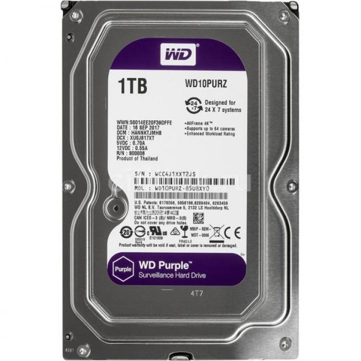 Жесткий диск 1TB Western Digital WD10PURZ для видеонаблюдения