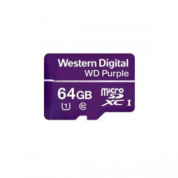 Карта памяти MICRO SDXC 64GB Western Digital для камеры видеонаблюдения