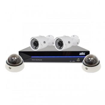 Комплект видеонаблюдения ATIS Starter Kit IP 2ext 2int