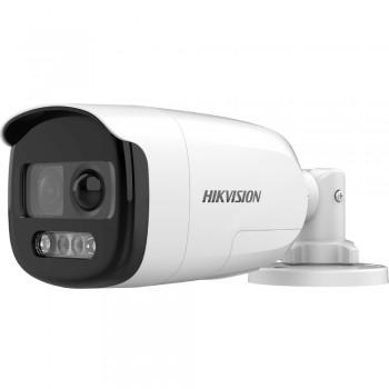 HD-TVI видеокамера 2 Мп Hikvision DS-2CE12DFT-PIRXOF (2.8 мм) ColorVu с PIR датчиком и сиреной для системы видеонаблюдения