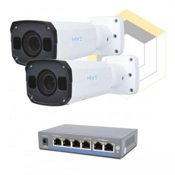 Комплект для управления и контроля доступа автотранспорта на 2 камеры