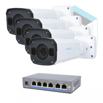 Комплект для управления и контроля доступа автотранспорта 2 на 4 камеры
