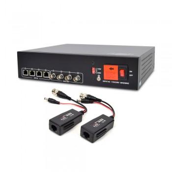 Активный 4-канальный приемник до 8 Мп ATIS AL-1204 UHD видеосигнала и питания по UTP