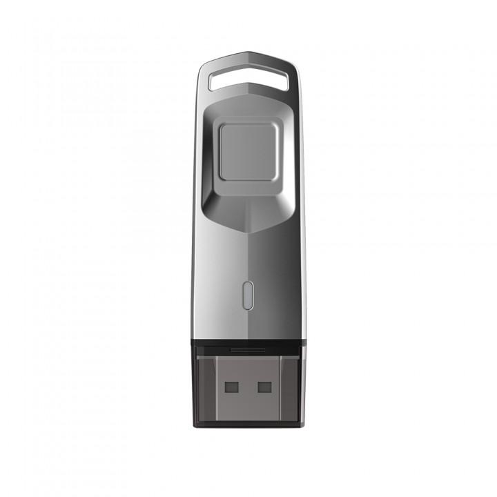 USB-накопитель Hikvision HS-USB-M200F/32G на 32 Гб с защитой по отпечатку пальца