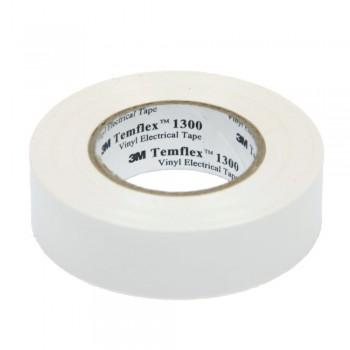 Изолента 3М Temflex 1300 (15мм х 10м), белая