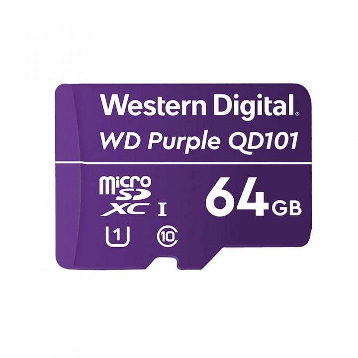 Карта памяти Western Digital SDXC 64GB специализированная для видеонаблюдения