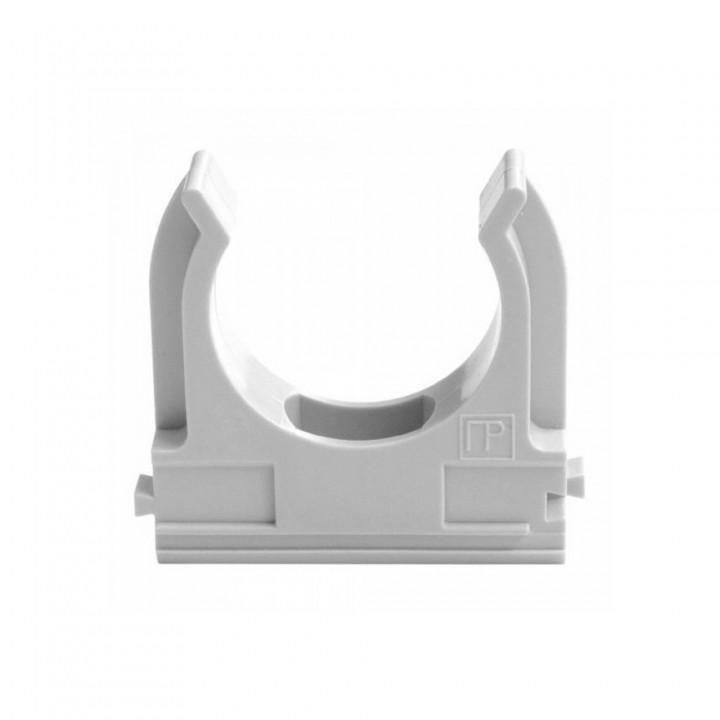 Клипса для гофры 25 мм (50 шт/уп) серая