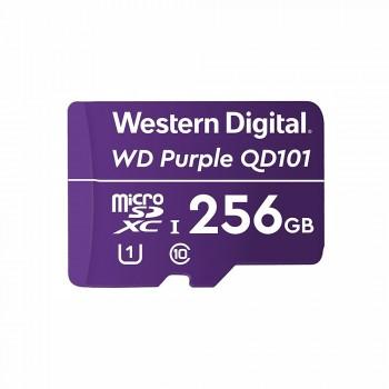 Карта памяти Western Digital MICRO SDXC QD101 256GB специализированная для видеонаблюдения