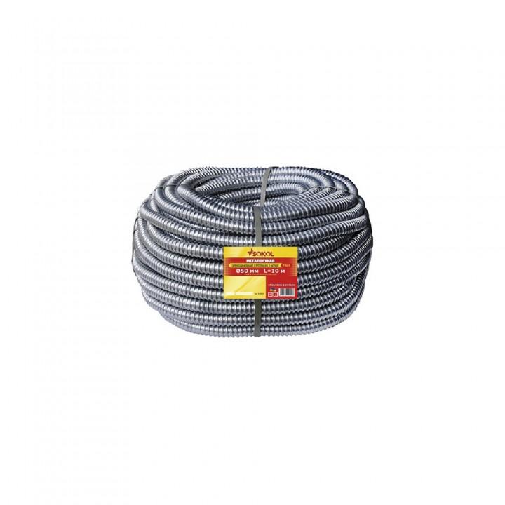 Металлорукав с протяжкой 220 TM d9 мм РЗ-Ц Professional серый (50 м)