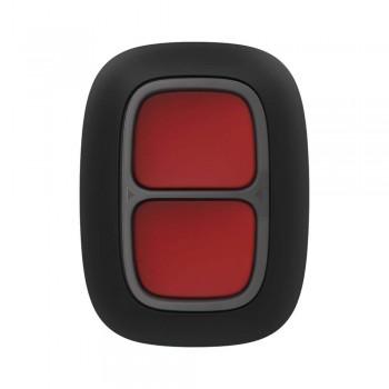 Беспроводная экстренная кнопка Ajax DoubleButton black с защитой от случайных нажатий
