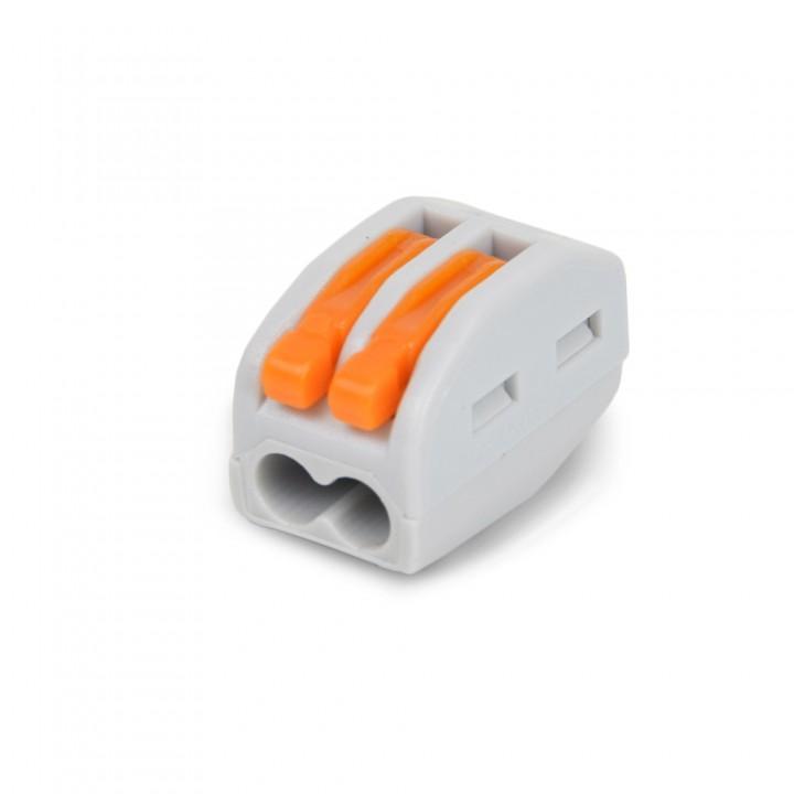 Клемма быстрого монтажа с рычагами на 2 провода WAGO 222-412