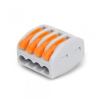 Клемма быстрого монтажа с рычагами на 4 провода WAGO PCT214 222-414