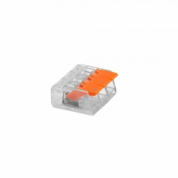 Клемма быстрого монтажа 221-413 с рычагами на 3 провода прозрачная