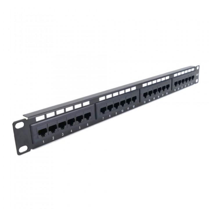 """Патч-панель Hypernet 24 порта UTP кат. 5Е 19"""" PP-KUTP24-NM-CM с организатором кабеля"""