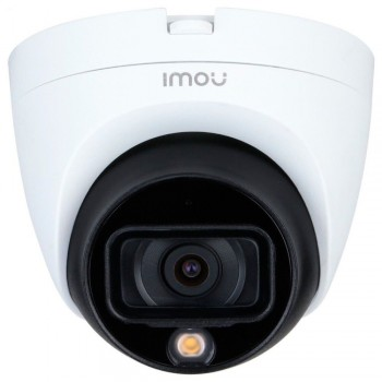 HDCVI видеокамера 2 Мп IMOU HAC-TB21FP (2.8 мм) м+п, со встроенным микрофоном для системы видеонаблюдения