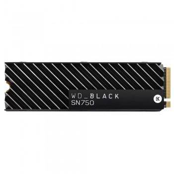 Твердотельный накопитель Western Digital SSD WD M.2 NVMe PCIe 3.0 4x 1TB SN750 Black 2280 + HS WDS100T3XHC