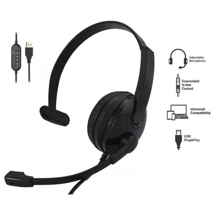 Гарнитура 2E CH12 Mono On-Ear USB