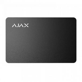 Защищенная бесконтактная карта Ajax Pass black (комплект 3 шт.) для клавиатуры KeyPad Plus