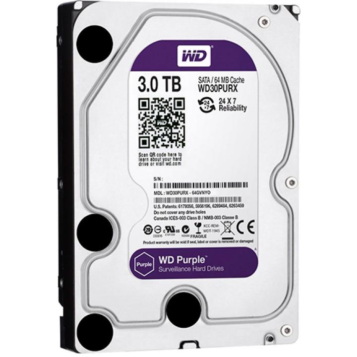 Жесткий диск 3TB Western Digital WD30PURZ для видеонаблюдения