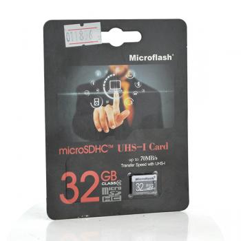 Карта памяти Microflash Micro SD, cкорость передачи данных 70MB/s, class10, 32G