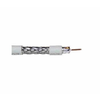 Кабель коаксиальный RITAR RG6U-32W, 0,90 мм.CCS, 32x0.12m CCA желтый экран, 75 Ом, FPE, оболочка 6,8мм белая PVC, бухта 100м Q6