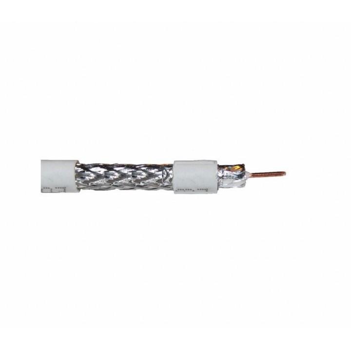 Кабель коаксиальный RITAR RG6U-32W, 0,90 мм.CCS, 32x0.12m CCA желтый экран, 75 Ом, FPE, оболочка 6,8мм белая PVC, бухта 100м