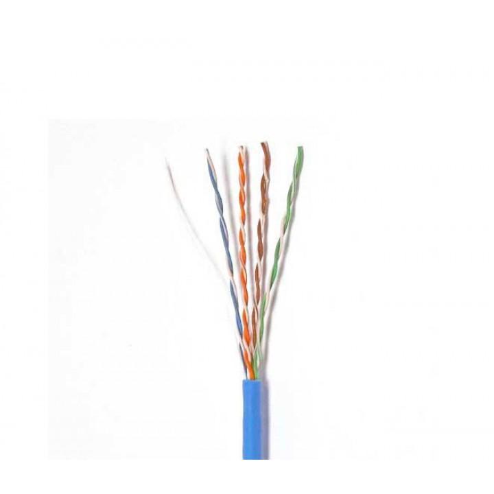 Кабель КВП 4х2х0,5мм, (UTP-cat 5E), YOSO, (CCA), для внутренных работ, blue, 305м