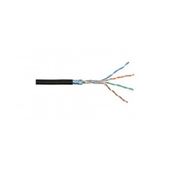 Кабель экранированная витая пара FTP (4*2*0.51), (CCA) для нар. работ, 1 метр