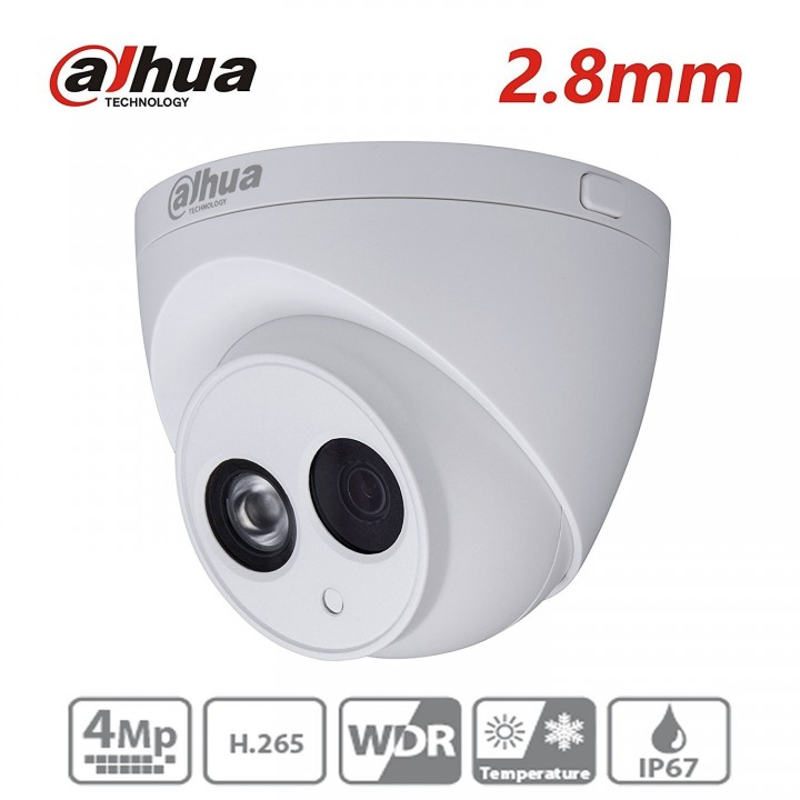 Dahua 4mp купольная камера ipc-hdw4431c-a-v2 с микрофоном и защитой IP67