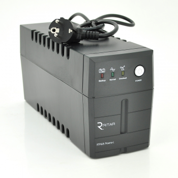 ИБП Ritar RTP625 (375W) Proxima-L, LED, AVR, 2st, 2xUNIVERSAL socket, 1x12V7Ah
