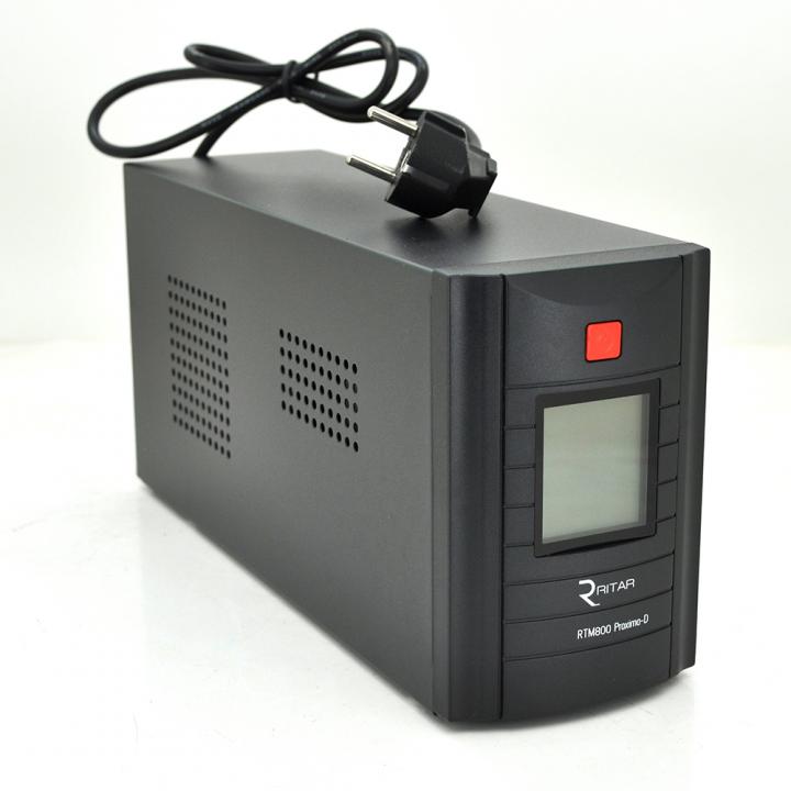 ИБП Ritar RTM800 (480W) Proxima-D, LCD, AVR, 2st, 2xSCHUKO socket, 1x12V9Ah