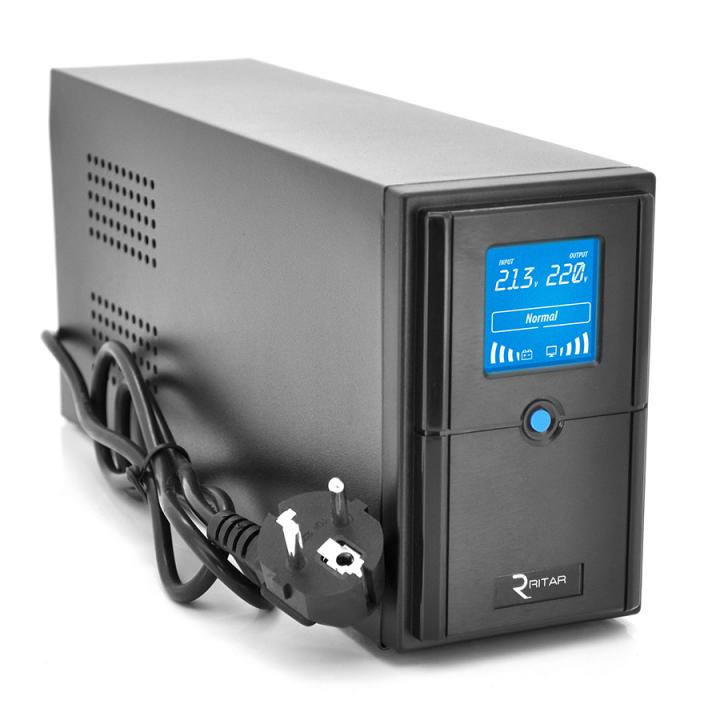 ИБП Ritar E-RTM1200 (720W) ELF-D, LCD, AVR, 3st, 3xSCHUKO socket, 2x12V7Ah