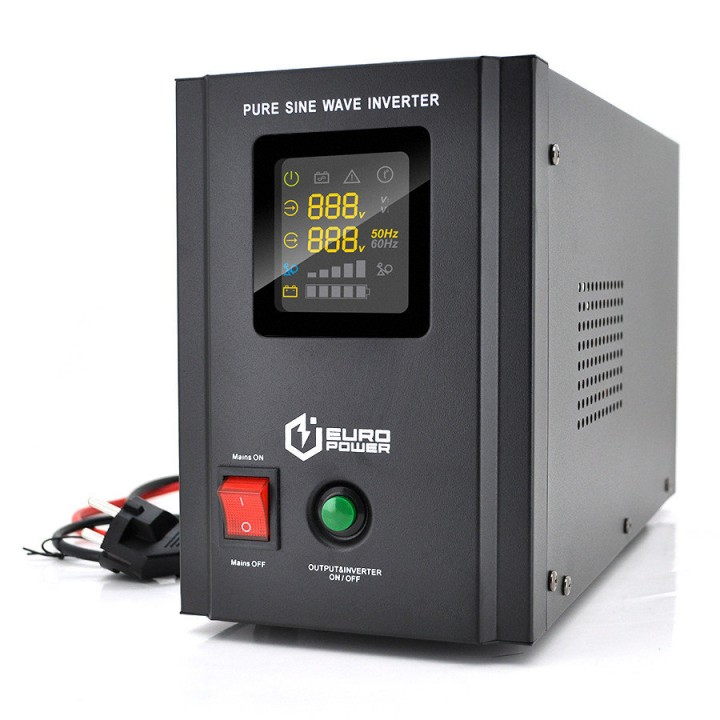 ИБП с правильной синусоидой Europower PSW-EPB800TW12 (480 Вт) 5/10А, под внешнюю АКБ 12В