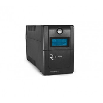 ИБП Ritar RTP800 (480W) Proxima-D, LCD, AVR, 3st, 2xSCHUKO socket, 1x12V9Ah,