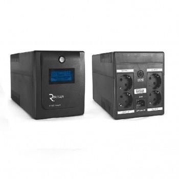 ИБП Ritar RTP1000 (600W) Proxima-D, LCD, AVR, 3st, 4xSCHUKO socket, 2x12V7Ah