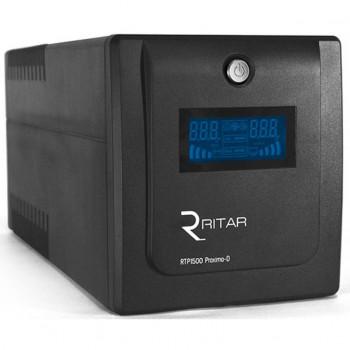 ИБП Ritar RTP1500 (900W) Proxima-D, LCD, AVR, 3st, 4xSCHUKO socket, 2x12V9Ah