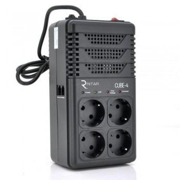 Стабилизатор напряжения релейный RITAR CUBE-4 800VA 480W 4 розетки