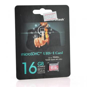 Карта памяти Microflash Micro SD, cкорость передачи данных 70MB/s, class10, 16G