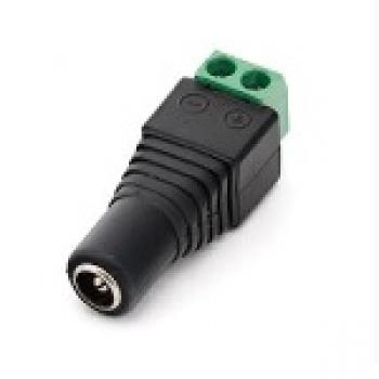 Разъем для подключения питания DC-F (D 5,5x2,1мм) с клеммами под кабель Q100