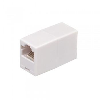 Соединитель RJ45 8P8C мама/мама RJ45 для соединения кабеля, белый/серый