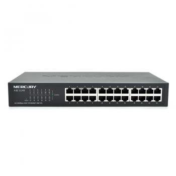 Коммутатор Mercury S124D, 24 порта Ethernet 10/100 Мбит/сек, BOX Q6