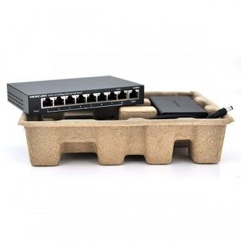Коммутатор POE 48V Mercury S109PS 8 портов POE + 1 порт Ethernet (Uplink ) 10/100 Мбит/сек