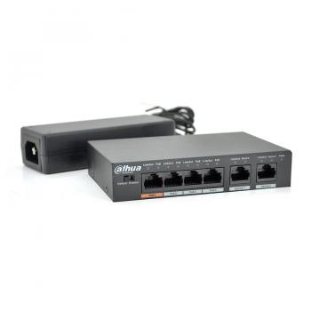 Коммутатор POE DH-PFS3006-4ET-60 с 4 портами POE 100Мбит