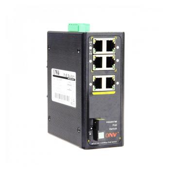 4х портовый PoE коммутатор ONV-IPS31074PFS-S, 4 порта РоЕ 100 Мбіт
